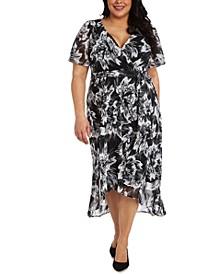 Plus Size High-Low Midi Dress
