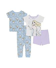 Toddler Girls 4-Pc. Graphic-Print Pajamas Set