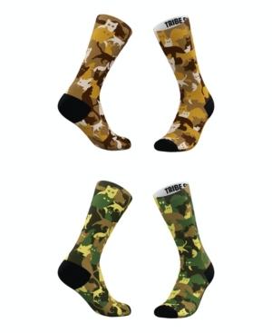 Tribe Socks Socks MEN'S AND WOMEN'S CAT-MOFLAUGE SOCKS, SET OF 2
