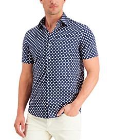 Men's Foulard Print Slim-Fit Shirt