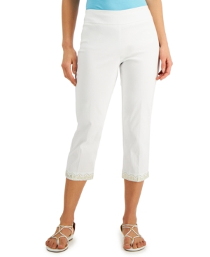 Studded Capri Pants