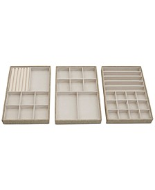 Stackable Jewelry Trays, Set of 3