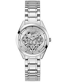 Women's Stainless Steel Multi-Function Bracelet Watch 34mm