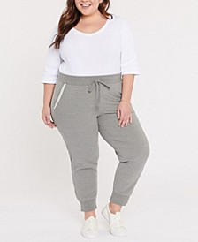 Plus Size Forever Comfort French Terry Drawstring Jogger