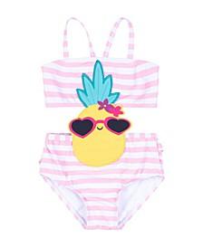 Baby Girls Pineapple Monokini Swimwear