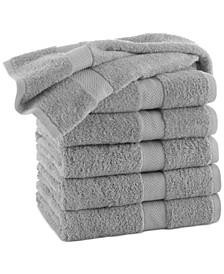 """Cotton 6-Pc. Solid 30"""" x 52"""" Bath Towel Set"""