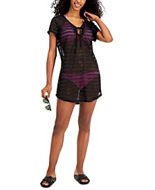 Juniors' Hooded Drawstring Cover-Up, Created for Macy's