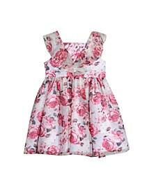 Little Girls All Over Print Easy Clip Dot Dress