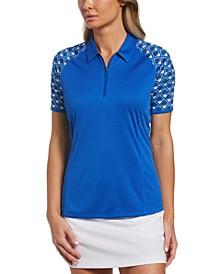 Women's Geo-Print-Sleeve Golf Shirt
