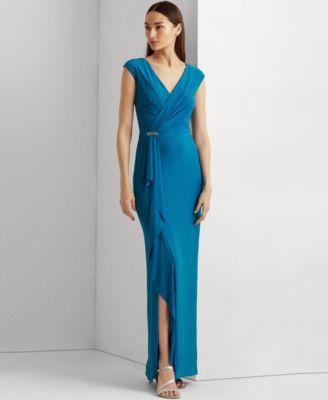 로렌 랄프로렌 Lauren Ralph Lauren Ruffle-Trim Jersey Gown