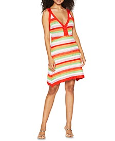 Striped Crocheted Dress