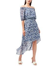 Petite High-Low Peasant Dress
