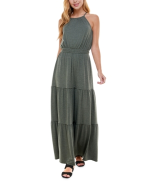 Juniors' Heathered Maxi Dress