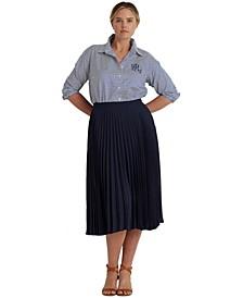 Plus Size Sunburst Pleated Skirt