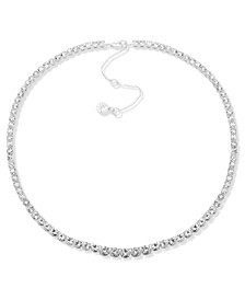 """Silver-Tone Graduated Crystal Collar Necklace, 16"""" + 3"""" extender"""