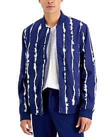 International Concepts Men's Shibori Striped Bomber Jacket, Created for Macy's