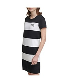 Emoji Patch Stripe Dress
