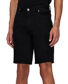 Men's Comfort-Fit Stretch Denim Shorts