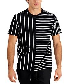 Men's Blocked Stripe T-Shirt, Created for Macy's