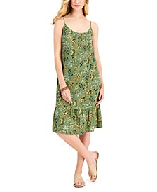 Petite Floral-Print Sleeveless Shift Dress, Created for Macy's