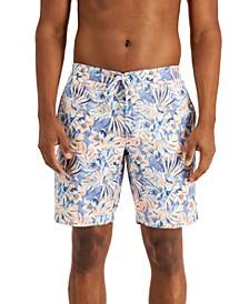 Men's Baja Hacienda Floral-Print UPF 30 Swim Trunks