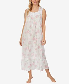 Printed Cotton Lawn Ballet Nightgown