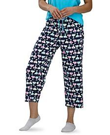 Women's Printed Capri Pajama Pants