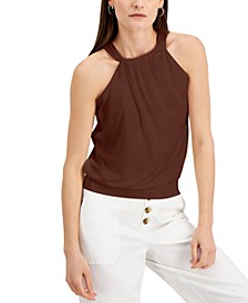 INC Gathered Halter Top, Created for Macy's