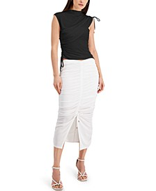 INC Ruched Asymmetrical Top, Created for Macy's
