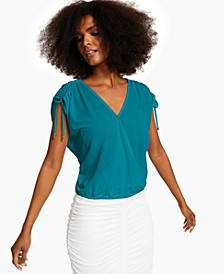 INC Ruched Surplice Top, Created for Macy's