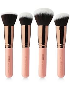 4-Pc. Rose Gold Kabuki Brush Set
