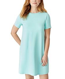 Crewneck Short-Sleeve Dress