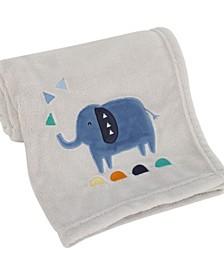 Modern Jungle Pals Super Soft Elephant Baby Blanket