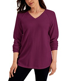 Petite Cotton Sweater, Created for Macy's