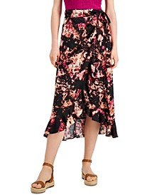 INC Printed Ruffled Wrap Skirt, Created for Macy's