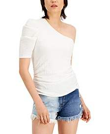 INC Puckered One-Shoulder Top, Created for Macy's