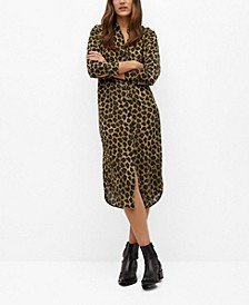 Leopard-Print Shirt Dress