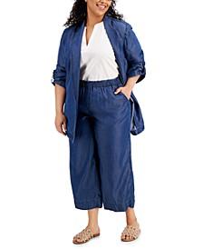 Plus Size Jacket, Blouse, Pants & Pecanna Flat Sandals, Created for Macy's