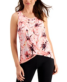 Printed Twist-Front Sleeveless Top, Created for Macy's