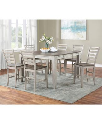 Abacus Counter Height Dining 7-Pc set (Counter Height Table + 6 Side Chairs)
