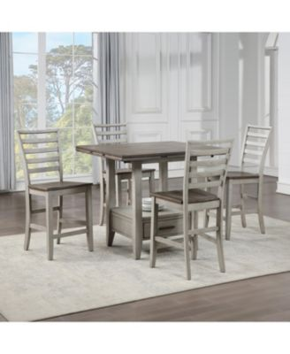 Abacus Counter Height Dining 5-Pc set (Counter Height Table + 4 Side Chairs)