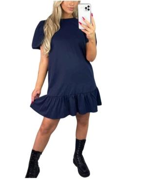 Frill Hem Smock Dress