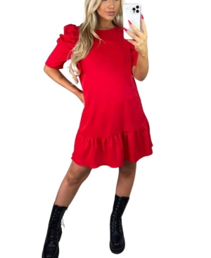 Ruffle Sleeve Shift Dress