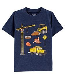 Toddler Boys Construction Jersey T-shirt