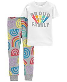 Baby Boys and Girls Pride Snug Fit Pajama, 2 Piece Set