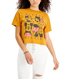 Juniors' Mickey Mouse Cropped T-Shirt