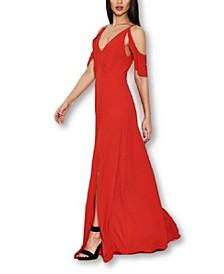 Cut Out Shoulder Maxi Dress