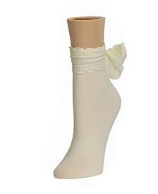 Women's Joli Jewel tone Scrunched Crew Socks, Pack of 6