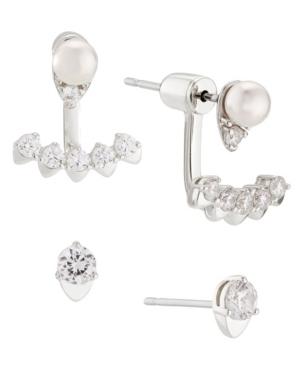 Imitation Pearl Earring Set