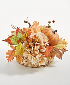 Pumpkin and Leaves Harvest Centerpiece, Created for Macy's